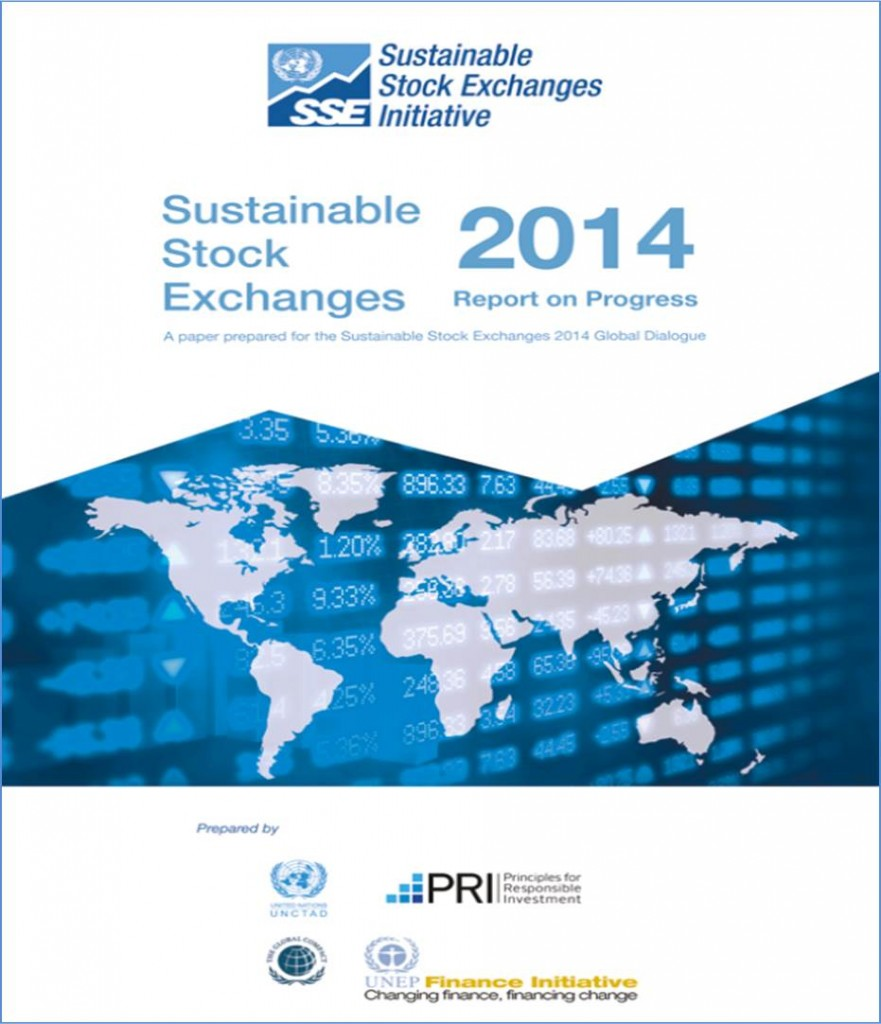 Paper World Map Sse.2014 Global Dialogue Sustainable Stock Exchanges