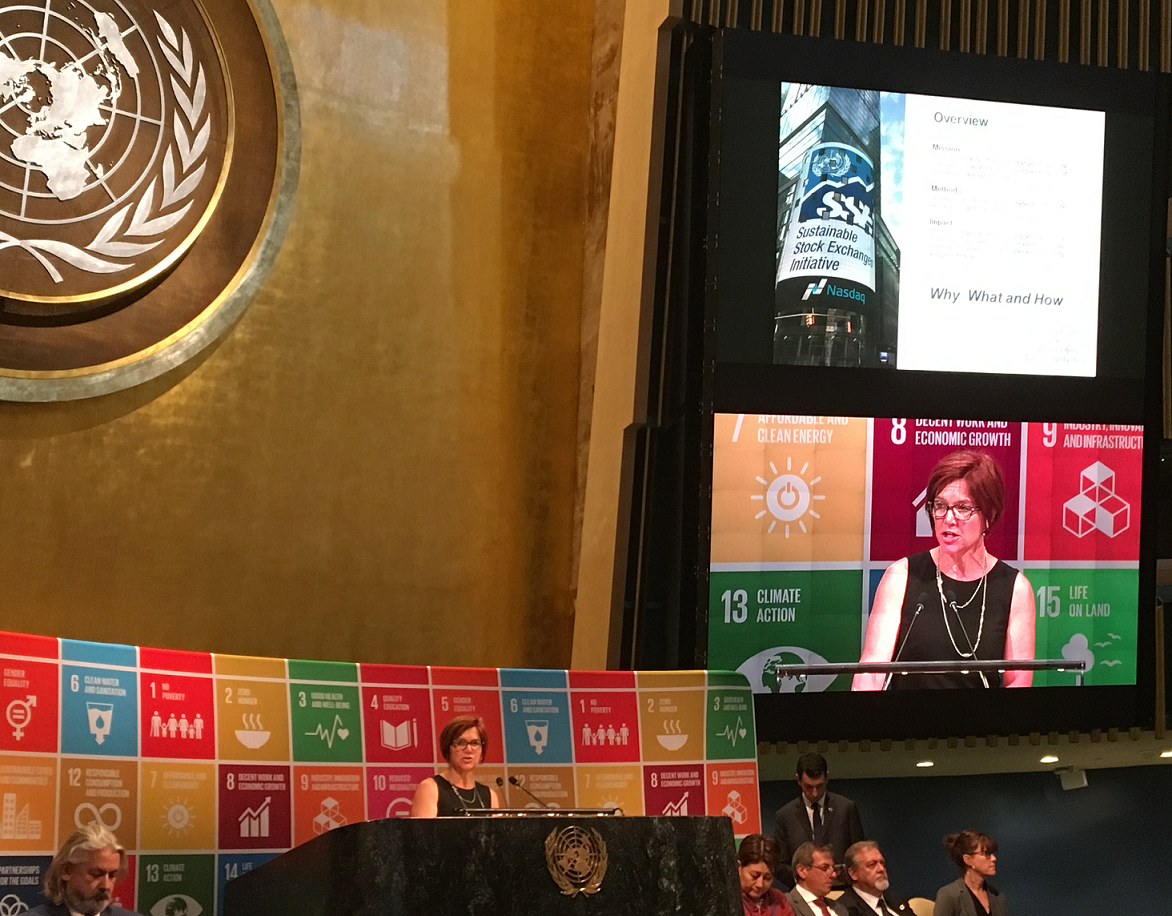 UNCTAD presents SSE at United Nations Partnership Exchange
