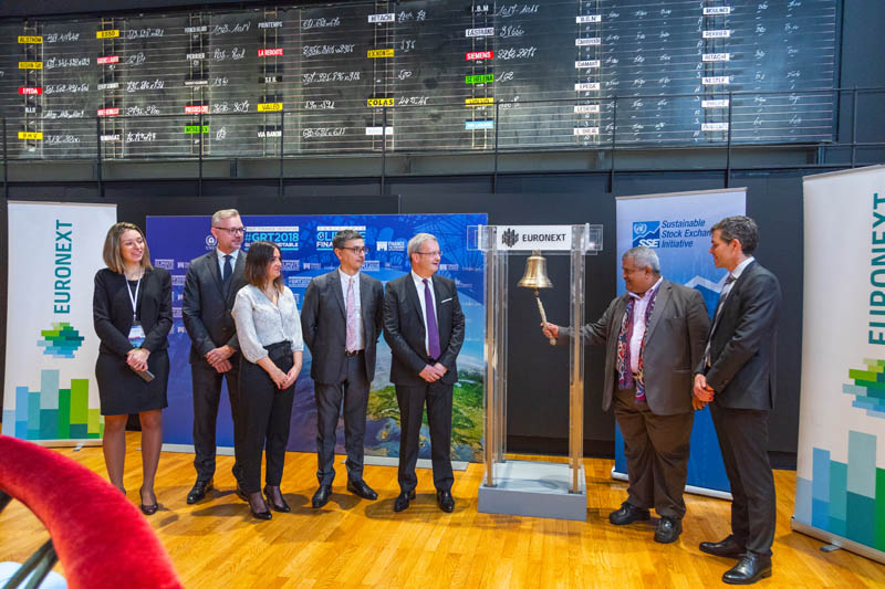 Euronext opens markets in Paris with a call for urgent action for sustainable finance