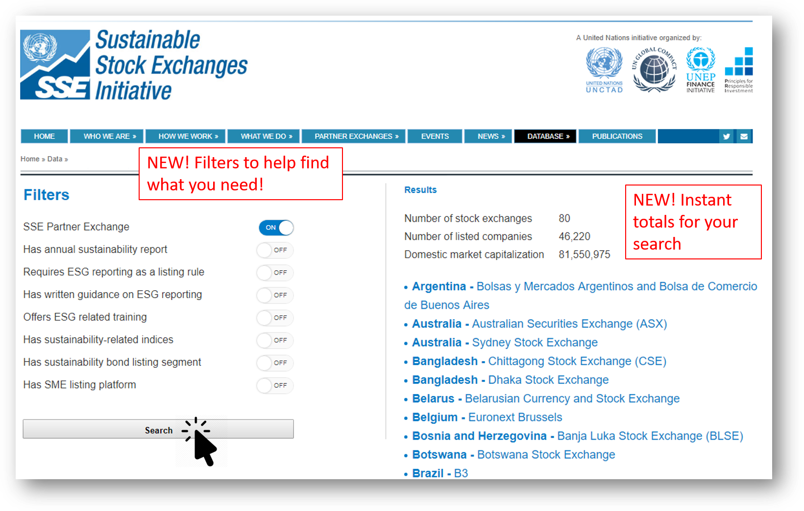 SSE Launches new searchable database of stock exchanges' sustainability activities